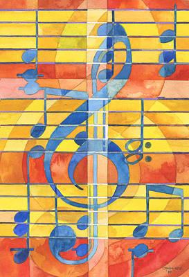 Staff Painting - Joyful Noise Part 3 by Mark Jennings