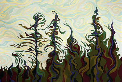 Painting - Joyful Pines, Whispering Lines by Amy Ferrari