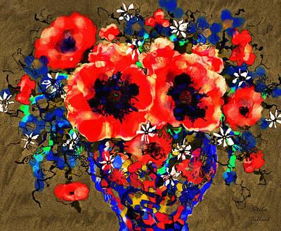 Mixed Media - Joyful Poppies by Natalie Holland