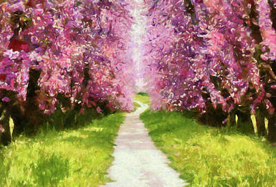 Painting - Joyful Spring Walk Impressionism by Georgiana Romanovna