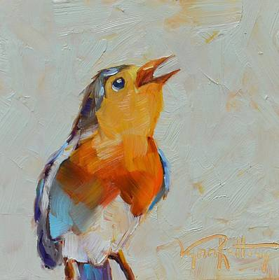 Back Yard Painting - Joyfull Song by Lynn Rattray