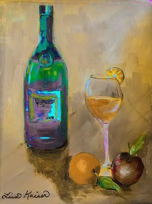 Digital Art - Joyous Champagne Orange Painting by Lisa Kaiser