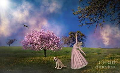 Pup Digital Art - Joyous Spring by KaFra Art