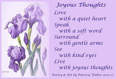 Mixed Media - Joyous Thoughts by Patricia Walter
