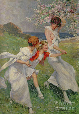 Painting - Joys Of Spring by Rene Lelong