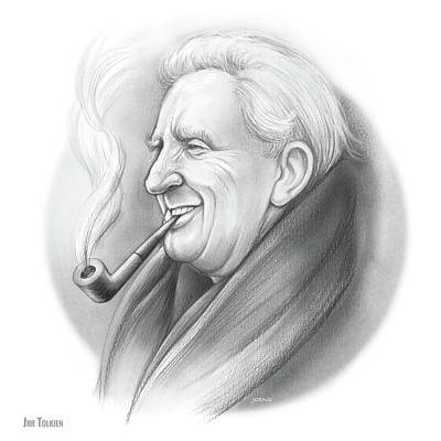 Portraits Royalty-Free and Rights-Managed Images - JRR Tolkien by Greg Joens