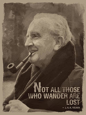 Tolkien Digital Art - J.r.r. Tolkien Quote by Afterdarkness
