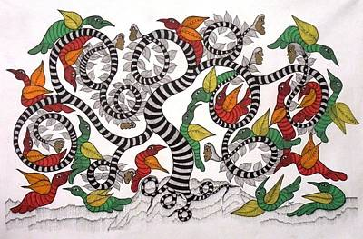 Gond Painting - Js 138 by Japani Shyam