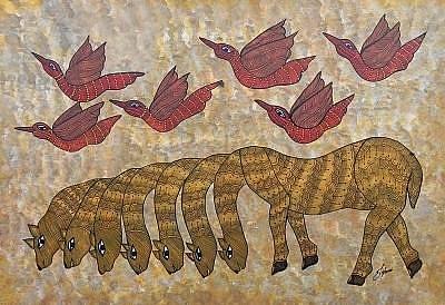 Shyam Painting - Js 139 by Japani Shyam