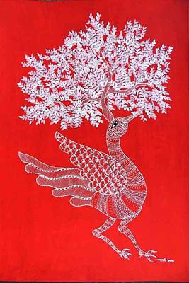 Gond Art Painting - Js 163 by Japani Shyam