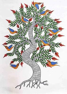 Gond Art Painting - Js 168 by Japani Shyam