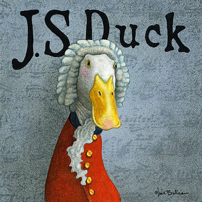 Ducks Painting - J.s. Duck by Will Bullas