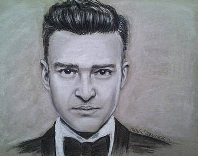 Justin Timberlake Drawings Drawing - Sunshine In My Pocket by Maria Ferrante