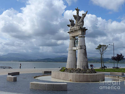 Photograph - Juan De La Cosa Monument - Santona by Phil Banks
