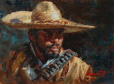 Mexican Cowboy Painting - Juan by Jim Clements