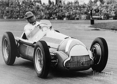 50s Photograph - Juan Manuel Fangio  by French School