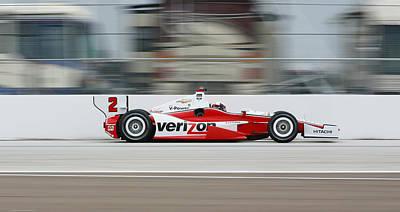 Juan Pablo Montoya Indycar Art Print
