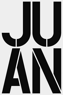 Abbreviation Painting - Juan by Three Dots