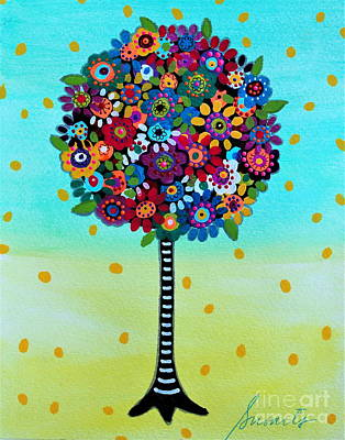 Painting - Jubilant Tree Of Life by Pristine Cartera Turkus