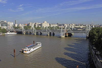 Photograph - Jubilee Bridges From London Eye by Tony Murtagh
