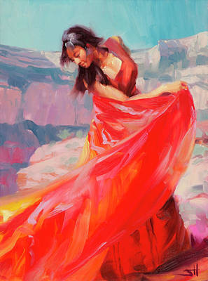 Red Sky Wall Art - Painting - Jubilee by Steve Henderson