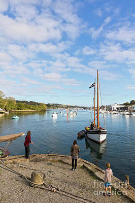 Photograph - Jubilee Wharf Penryn River  by Terri Waters
