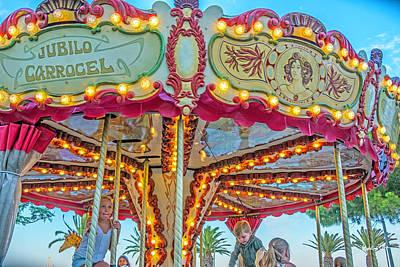 Photograph - Jubilo Carousel - Lagos - Portugal by Madeline Ellis