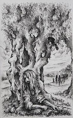 Crucifixtion Drawing - Judas by Rachel Christine Nowicki