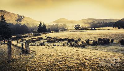 Judbury Winter Panorama Art Print