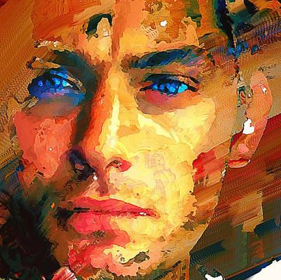 Digital Art - Jude Law Portrait 1 by Yury Malkov