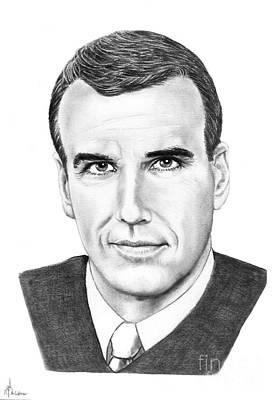 Famous People Drawing - Judge Alex Ferrer by Murphy Elliott