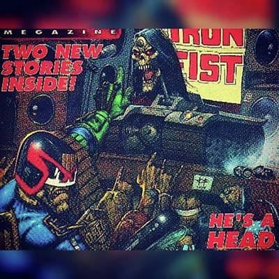 Photograph - Judge Dredd Hates Zombies! #judgedredd by XPUNKWOLFMANX Jeff Padget