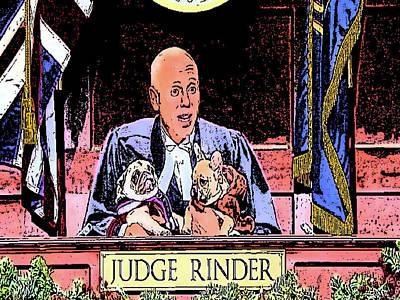 Digital Art - Judge Rinder by Jan Steadman-Jackson