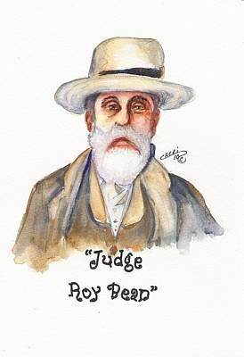 Judge Roy Bean Art Print by Cheri Meyer
