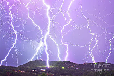 Medina Lake Photograph - Judgement Day Lightning by Michael Tidwell