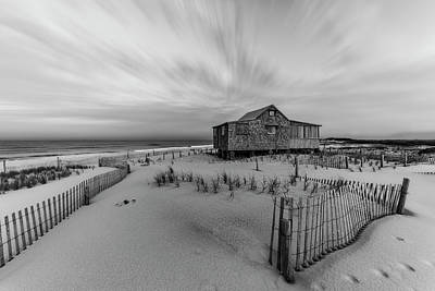 Photograph - Judges Shack Nj Shore Bw by Susan Candelario