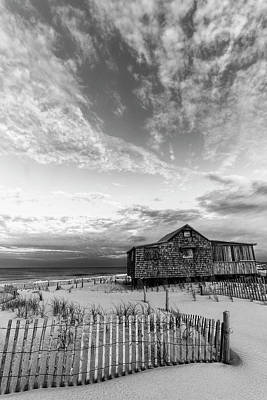 Photograph - Judges Shack Nj Shore II Bw by Susan Candelario