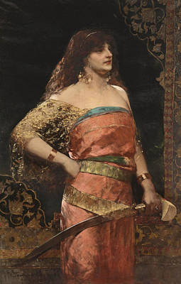 Painting - Judith 2 by Jean-Joseph Benjamin-Constant