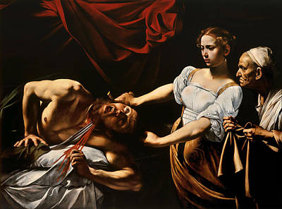 Old Books Painting - Judith And Holofernes by Caravaggio