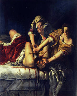 Beheading Painting - Judith Beheading Holofernes by Artemisia Gentileschi