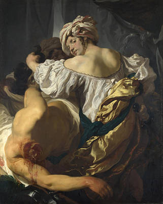 Judith In The Tent Of Holofernes Art Print