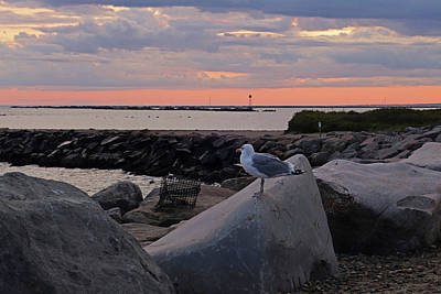 Photograph - Judith Point Breakwater Narragansett Rhode Island Ri by Toby McGuire