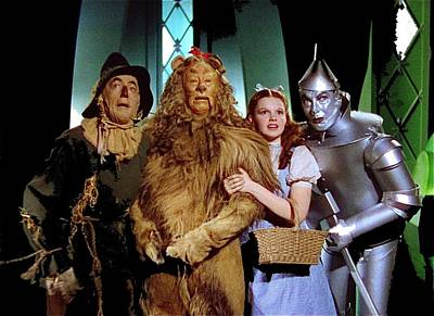 Judy Garland And Pals The Wizard Of Oz 1939-2016 Art Print by David Lee Guss