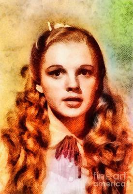 Judy Garland Painting - Judy Garland As Dorothy In The Wizard Of Oz by John Springfield
