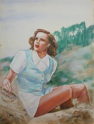 Painting - Judy Garland Circa 1949 by Bryan Bustard