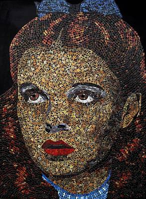 Mixed Media - Judy Garland by Doug Powell