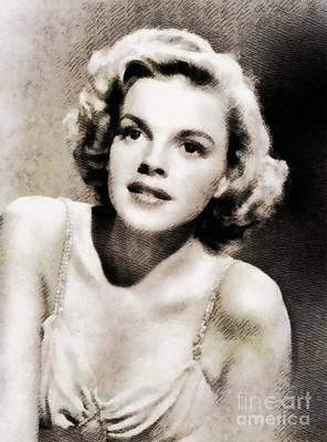 Judy Garland Painting - Judy Garland, Hollywood Legend By John Springfield by John Springfield