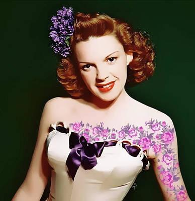 Digital Art - Judy Garland by Jan Steadman-Jackson