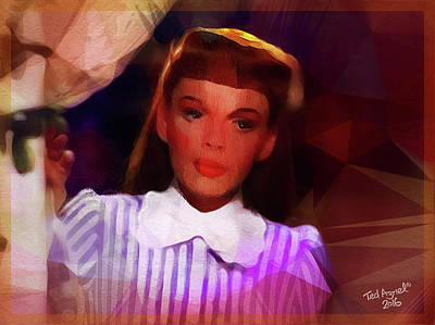 Digital Art - Judy Garland by Ted Azriel