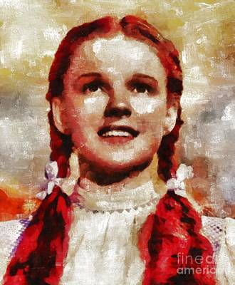 Judy Garland Painting - Judy Garland, Vintage Actress By Mb by Mary Bassett